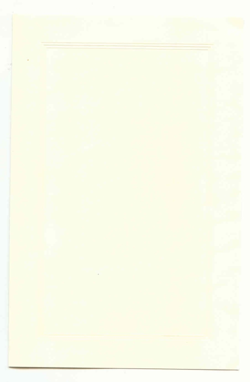 Triple Embossed Panel on Cream Bulletin - 25 Count