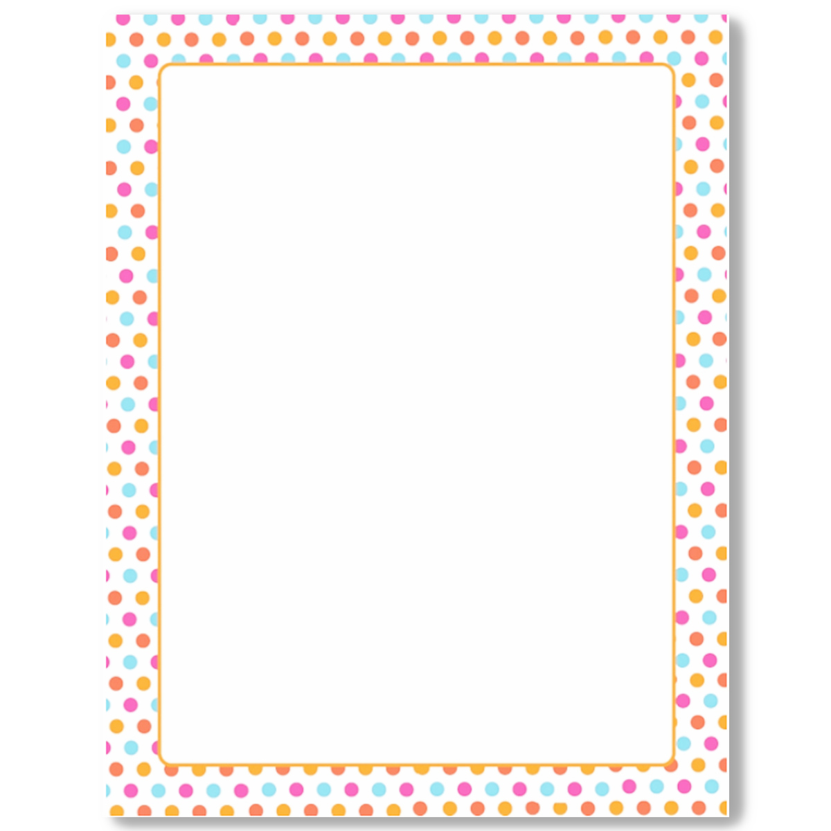 photograph about Printable Paper With Border referred to as Multi Dots with Orange Border Letterhead - 25 Depend [Geo48718] : Designer Papers attractive printer paper Printable Paper Xmas stationery