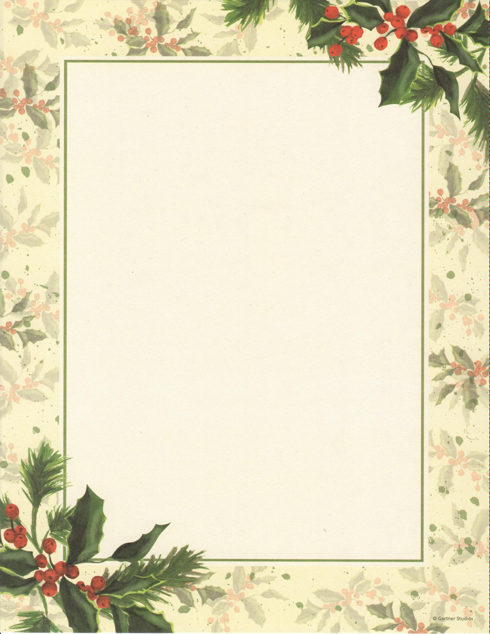 Painterly Holly Letterhead