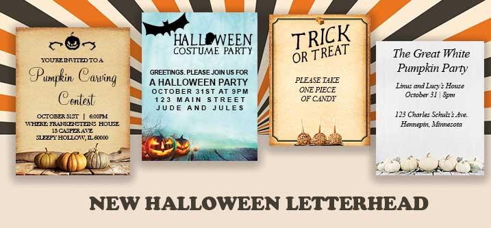 Halloween Party Letterhead