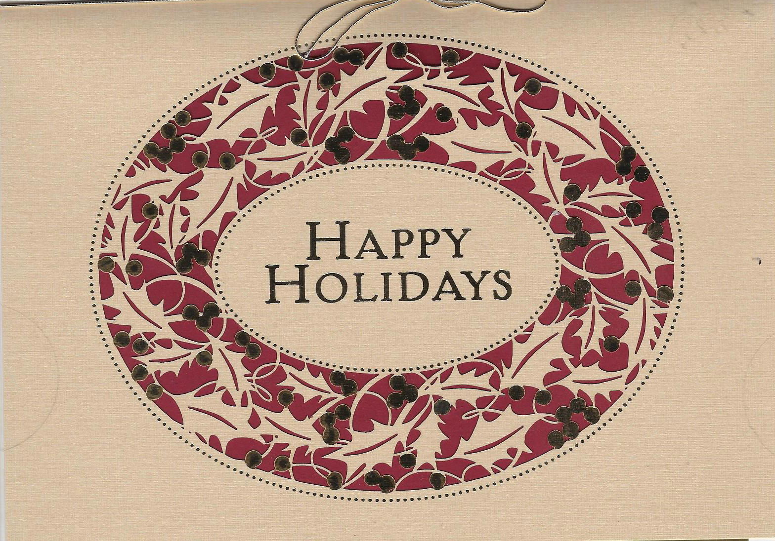 Holly Wreath Holiday Card